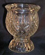 Vintage Avon Glass Tulip Cup Diamond hob Nail Votive Candle Holder