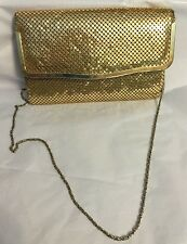 VINTAGE GOLD MESH PURSE EVENING Bag Shoulder Or Clutch Handbag