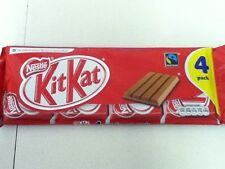 PACK OF 4 NESTLE KIT-KAT CHOCOLATE BISCUITS, 4 FINGER BARS - BRITISH CHOCOLATE