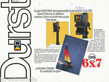 Prospekt Durst Vergrößerer M 670 BW + Color 7/83 brochure enlarger 1983 Germany