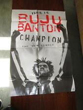 THIS IS BUJU BANTON CHAMPION POSTER 36 X 24 LOOSE CANNON 1995 PROMOTIONAL