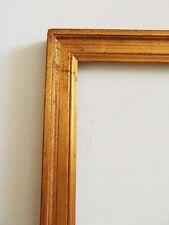 3)-cadre baguette doré année 70  fond/verre Feuillure :  29,6 cmX 25,5 cm frame