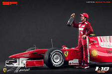 1/18 Fernando Alonso VERY RARE!!! figures for1:18 Minichamps Autoart F1 Ferrari