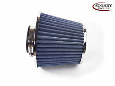 Stoney Racing Dual Cone Air Filter 89mm Neck Blue Air Induction Intake Sports