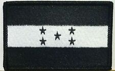 HONDURAS FLAG Iron-on PATCH CATRACHO CENTRAL ARMY AMERICAN EMBLEM B & W Color