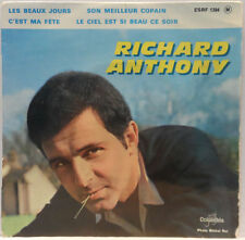 "Richard Anthony - C'est Ma Fête 7"" EP 1963 France French Folk Chanson Columbia"
