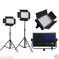 LED576AL Daylight LED Studio Panel light LCD Touch Screen film dimmable 2 kit