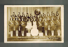Mint Picture Postcard Fort Williams Canada Girls Military band army Greetings