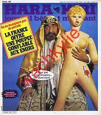 Hara Kiri n°222 du 03/1980 Crise pétrole Émir Eddy Mitchell Fausses pubs