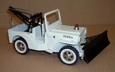 TONKA SNOWPLOW JEEP AND WRECKER Old Toy 1960's Excellent Complete Pressed Steel