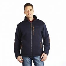 Regatta Ackerman Mens Full Zip Knit Effect Hi-Pile Fleece Jacket Navy S