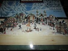 Kirkland Signature LIGHTED VICTORIAN VILLAGE Christmas Porcelain 37 Pc in great