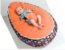 Soft Convertible 2 Tops Baby Bean Bag Cover Soft Sleeping Bag Portable Seat/ Bed