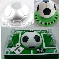 New Large 3D Half Football Cake Pan Ball Baking Mold Decorating Tool Tin #T