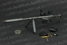 "ZY Toys US BARRETT M107A1 Sniper Rifle Set Black 1/6 Fit for 12"" Action Figure"