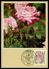 BERLIN MK FLORA ROSEN ROSE ROSES MAXIMUMKARTE CARTE MAXIMUM CARD MC CM h0835