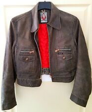 Diesel Women Vintage Limited Edition Premium Leather Cafe Racer cowhide jacket