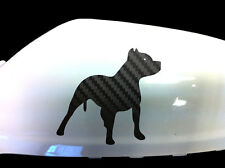 Pitbull Dog Car Sticker Wing Mirror Styling Decals (Set of 2), Black Carbon