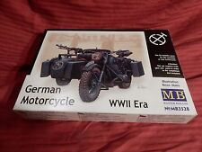 1/35 Master Box German Motorcycle BMW 75 w/ Sidecar MB 3528 F/S Bag Open Box