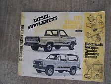 1985 Ford Ranger Bronco II Electric Vacuum Troubleshooting Manual Diesel Supp  U