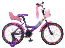 POPAL 18P Mädchen Kinderrad Little Miss Kinder Fahrrad 18 Zoll Violett NEU