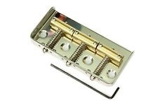 "Half (ie. 1/2, ""Cut-Off') Telecaster bridge with 3 brass saddles, Nickel Satin"