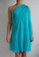 Halston Heritage One shoulder silk flowy dress