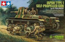 Tamiya WWII Japanese Type 1 Self-Propelled Gun Tank (w/6 Figures) model kit 1/35