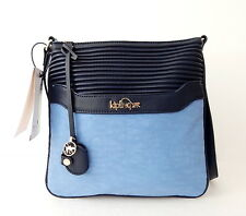 NWT Kipling Always On Collection Thora Crossbody Bag Channel Quilt Riveria Blue