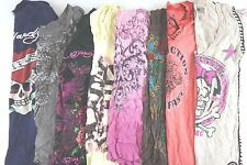Affliction Diesel Lot of 8 Juniors Short Slv Graphic Tee Shirts Medium M I11552