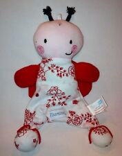 Vitamins Baby Ladybug Butterfly Red White Pink Lovey Security Blanket Flowers