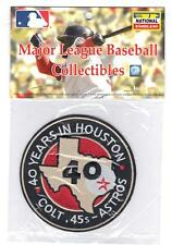 2001 Houston Astros 40th Team Anniversary Season Years Jersey Sleeve Patch