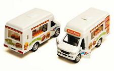 Kinsmart Ford E350 Hot Dogs Lunch Truck fast Food Van 1:43 O Scale Pullback New