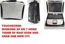 Panasonic Toughbook CF-18 MK2.1.10 MHz,60GB HD,NOTOUCH, WIN 7  OR WINDOWS XP PRO