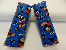 Baby Seat Strap Covers Car Chair Stroller Pram Mickey Mouse Dance and Play Blue