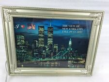 VTG  TWIN TOWERS  LIGHT UP THE NIGHT MOTION PICTURE NEW YORK CITY SKYLINE
