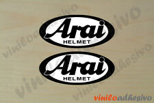 PEGATINA STICKER VINILO Arai casco 2 colores 10 x 4,5cm