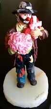 RON LEE SIGNED ART SCULPTURE VERY LIMITED EDITION CLOWN FLOWER BOUQUET CANDY