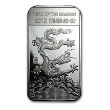 5 oz APMEX 2012 Year of the Dragon Silver Bar - SKU #65008
