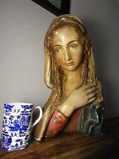 Busto Antigua Virgen María Madonna Jesucristo Chica Renacimiento italiano de arte