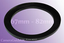 67mm to 82mm 67mm-82mm Stepping Step Up Filter Ring Adapter