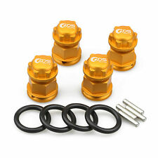 4PC GDS Racing Extended Wheel Hex Hubs and Wheel Nut Golden for Losi 5ive T