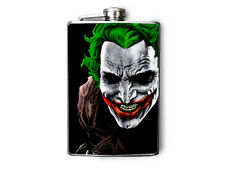 The Joker Inspired Decorated Stainless Steel Flask 8oz. - FN159