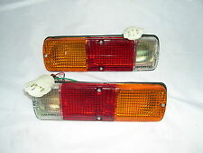 TOYOTA HILUX PAIR OF TAIL LIGHTS FOR DROPSIDE TRAYS WITH OVAL 5 PIN TYPE PLUG