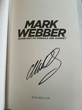 Mark Webber - SIGNED Hardcover BOOK Aussie Grit , F1 Formula 1