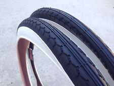 "New Two (2) Sunlite 26"" x 2.125"" Vintage Bicycle White Wall Tire Kenda  (57-559)"
