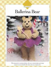 BALLERINA BEAR w/ Crocheted Tutu Crochet Single Pattern Vanna White