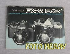 Yashica FX-3 FX-7 die Bed-Anleitung deutsch english Español france 02258