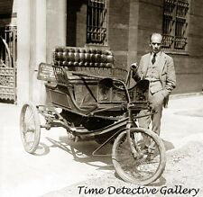 Three-Wheeled Horseless Carriage - 1909 - Historic Photo Print