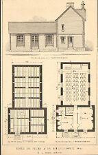 61 LA SELLE-LA-FORGE ECOLE DE FILLES ARCHITECTE AMIARD IMAGE 1917/20